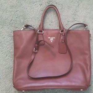 Large brown Prada purse
